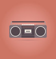 tape recorder flat icon vector image vector image