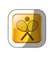 tennis sport game vector image vector image