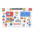 thin line dashboard poster banner template vector image