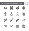 transport car parts simple line icons vector image