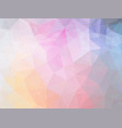 triangle pink blue pattern vector image vector image