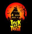 trick or teat halloween t shirt vector image