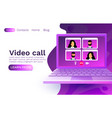 video call laptop chat concept people talk web vector image vector image