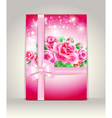 Wedding card or invitation with roses vector image vector image