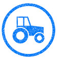 wheeled tractor rounded grainy icon vector image vector image