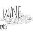 wine accessories a wine lover s mark text word vector image vector image