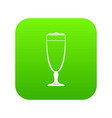 wine glass icon green vector image vector image