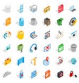 working computer icons set isometric style vector image vector image