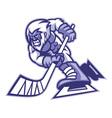 yeti ice hockey mascot vector image vector image