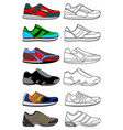 sneakers minimal icon isolated on white vector image