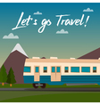 Travel Banner Travel by Train Time to Travel vector image