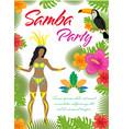 samba party poster invitation flyer brazilian vector image