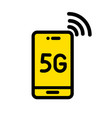 5g color icon in simple style vector image vector image