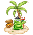 a pirate monster in island vector image vector image