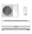 air conditioner set vector image vector image