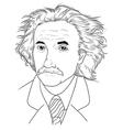 Albert Einstein vector image vector image