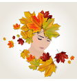 Autumn face vector image vector image