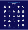 baby white icon over blue background 25 icon pack vector image