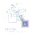 background squares in a modern style vector image vector image