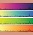baghdad multiple color gradient skyline banner vector image vector image