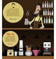 Barista making coffee vector image