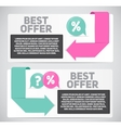 Best Offer Sale Banner with Place for Your Text vector image