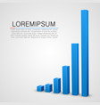 blue graph chart background vector image vector image
