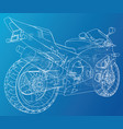 blueprint sport bike eps10 format created vector image