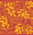 botanical seamless pattern autumn background of vector image vector image