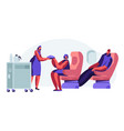 cabin plane with stewardess and passengers vector image vector image