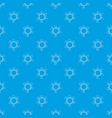 charm bracelet pattern seamless blue vector image vector image