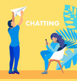 chatting email communication social media banner vector image vector image