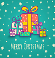 Christmas gifts blue vector image vector image