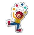 Circus clown cartoon vector image