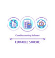 cloud accounting software concept icon