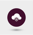 cloud computing icon simple vector image vector image