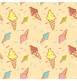Colorful melting ice-cream seamless pattern vector image