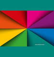colorful rainbow triangles background vector image vector image