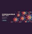 coronavirus banner with bacteria