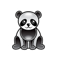 Cute cartoon panda isolated vector image