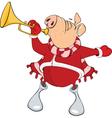 Cute Pig Musician Cartoon vector image vector image