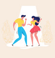 dancing couple retro dance contest swing dancers vector image vector image