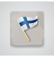 Finland flag icon vector image vector image