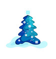 fir tree blue vector image vector image