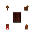 flat icon sweet set of chocolate wrapper cocoa vector image vector image
