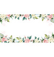 Floral frame rose flowers white background