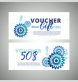 floral gift voucher colorful background vector image