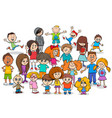 funny children cartoon characters group vector image vector image