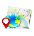 global navigation concept vector image vector image