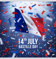 happy bastille day celebration banner vector image